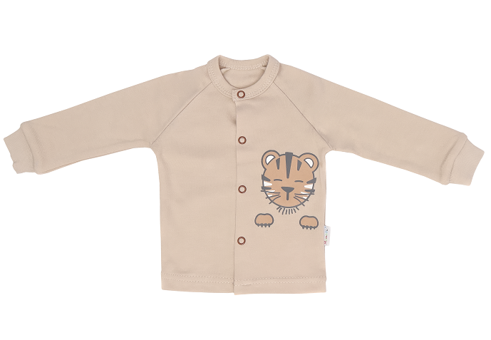 Mamatti Novozenecká bavlnená košieľka Lion - béžová, veľ. 74