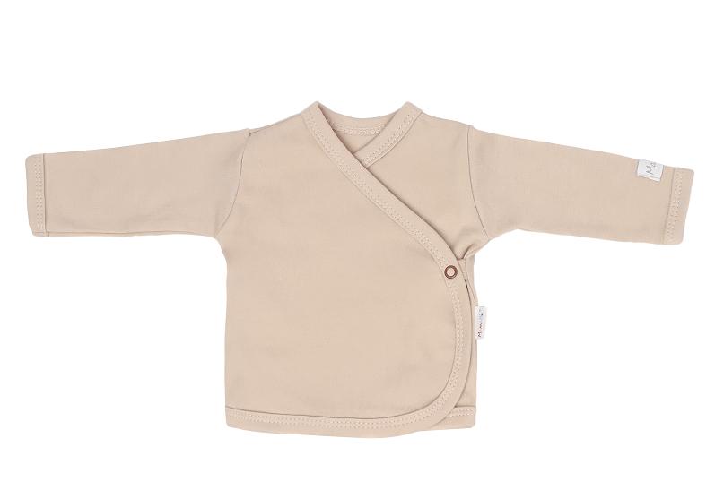Mamatti Novozenecká bavlnená košieľka zapínanie bokom, Lion - béžová