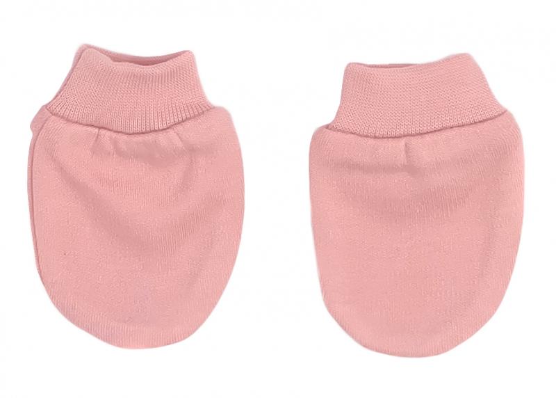 Mamatti Dojčenské rukavičky Mašle - pudrové