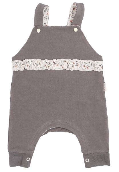 Mamatti Detské laclové nohavice Lúka, sivá