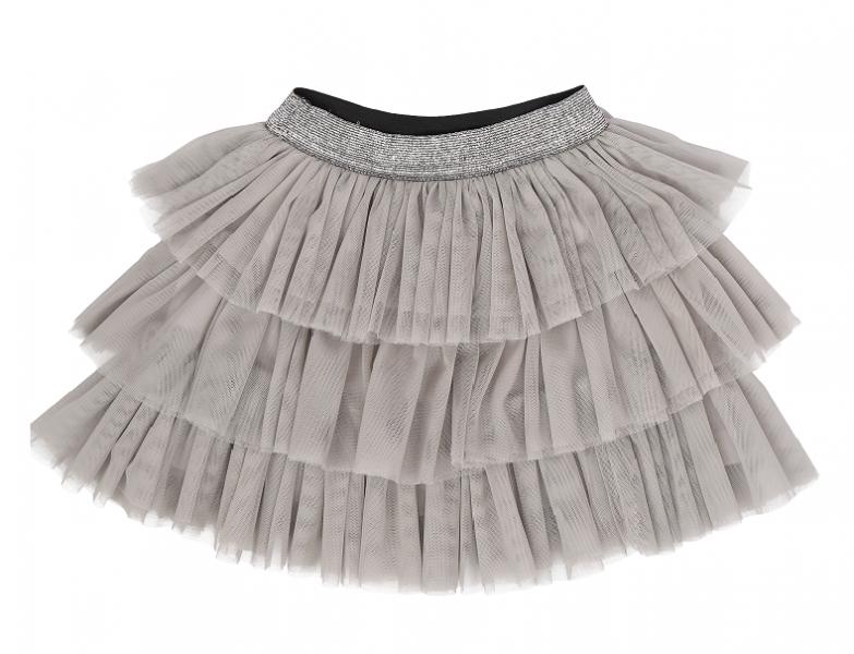 Dojčenská tylová sukňa Lúka, sivá, veľ 74/80
