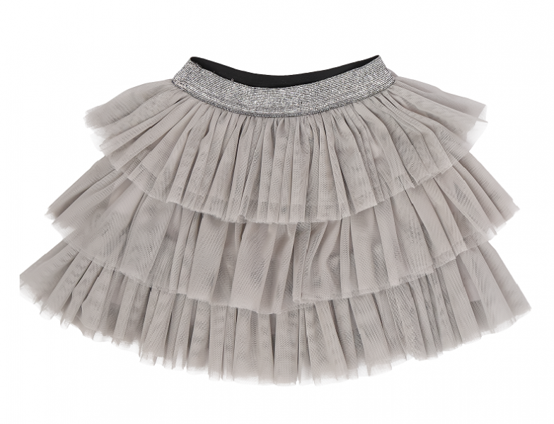 Mamatti Dojčenská tylová sukňa Lúka, sivá