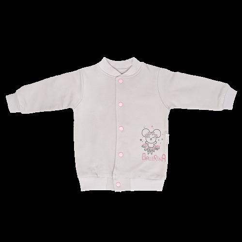 Mamatti Bavlnená detská mikina Lúka - sivá, veľ. 86-#Velikost koj. oblečení;86 (12-18m)