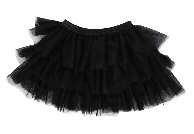 Mamatti Detská tylová sukňa Mašle - čierna-#Velikost koj. oblečení;74/80