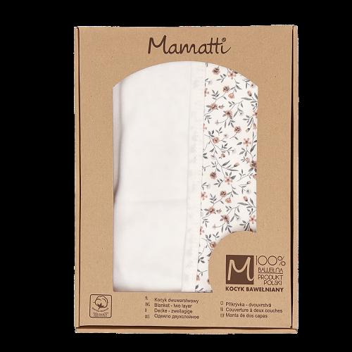 Mamatti Detská bavlněná deka, Lúka - 80 x 90 cm, v darčekovej krabičke - ecru