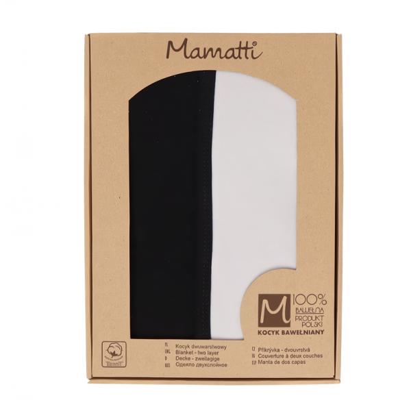Mamatti Detská bavlněná deka, Koala - 80 x 90 cm, v darčekovej krabičke, šedá-čierna