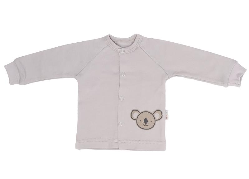Mamatti Novozenecká bavlnená košieľka Koala - šedá, veľ. 68