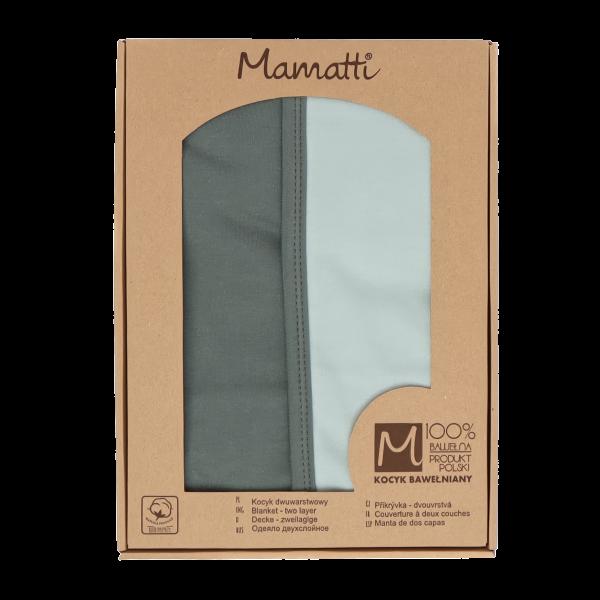 Mamatti Detská bavlněná deka, Super Boy - 80 x 90 cm, v darčekovej krabičke, zelená-mätová