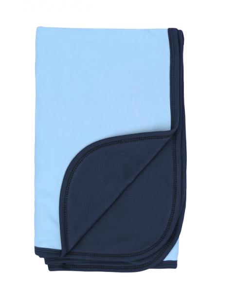 Mamatti Detská bavlněná deka, Happy - 80 x 90 cm, modrá-granát
