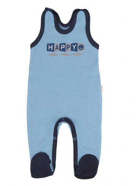 Mamatti Dojčenské dupačky Happy - modré, veľ. 74