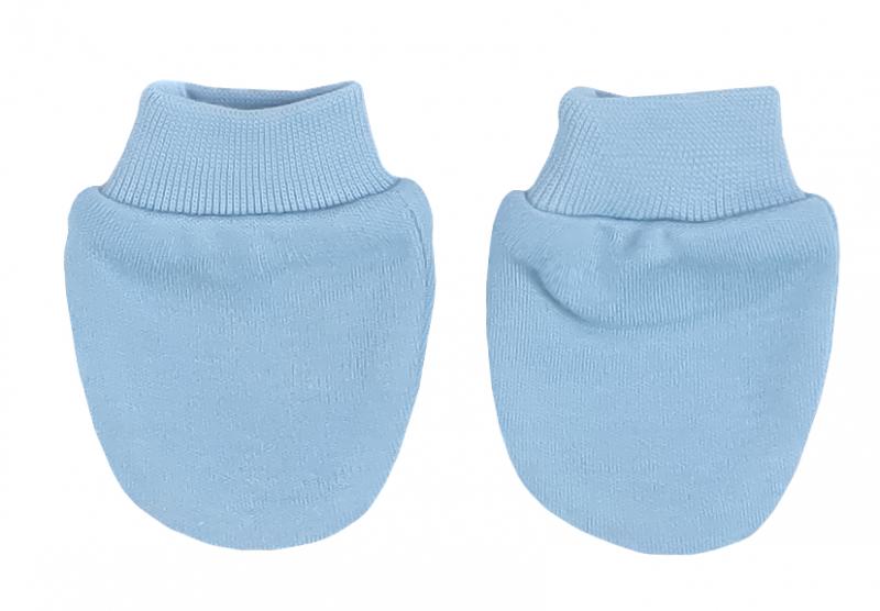 Mamatti Dojčenské rukavičky Happy - modré
