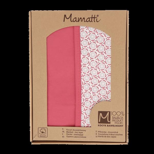 Mamatti Detská bavlnená deka, Rozeta - 80 x 90 cm, v darčekovej krabičke