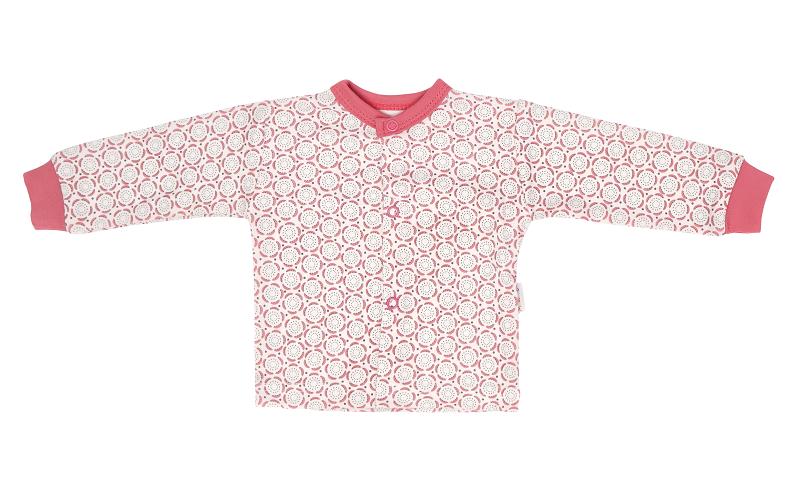 Mamatti Novorodenecká bavlnená košieľka s čipkou, Rozeta - ružová, veľ. 74