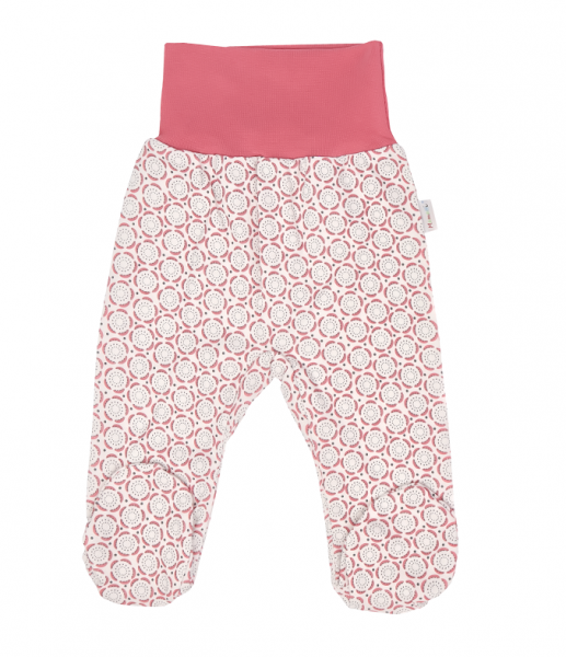 Mamatti Dojčenské polodupačky, Rozeta, ružovo-ecru, veľ. 50