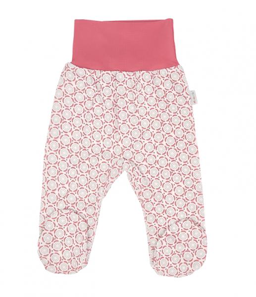Mamatti Dojčenské polodupačky, Rozeta, ružovo-ecru, veľ. 62