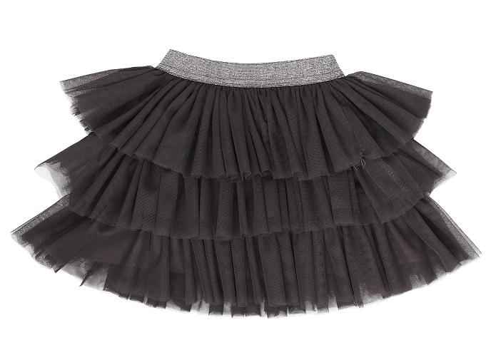 Mamatti Dojčenská tylová sukňa Rozeta, tm. šedá