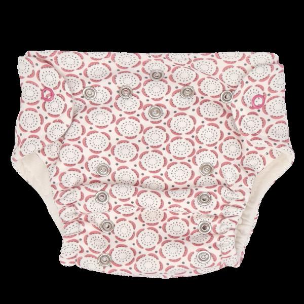 Mamatti Látková plienka EKO sada - nohavičky + 2 x plienka, veľ. 3 - 8 kg, Rozeta