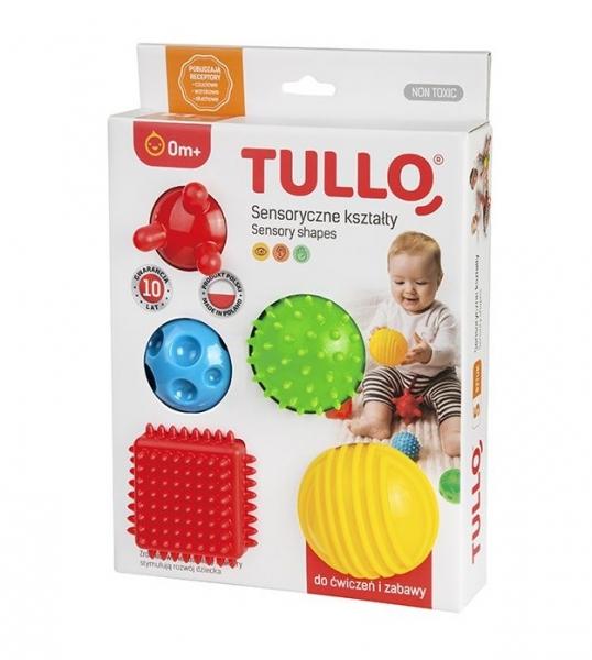 TULLO Edukačné farebné loptičky , 5ks v krabičke