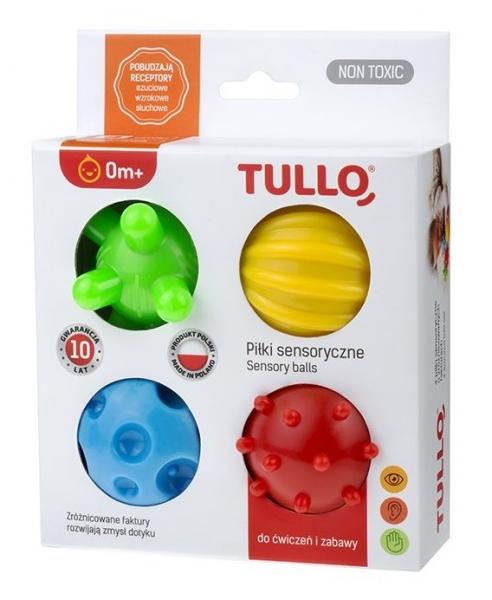 TULLO Edukačné farebné loptičky 4ks v krabičke