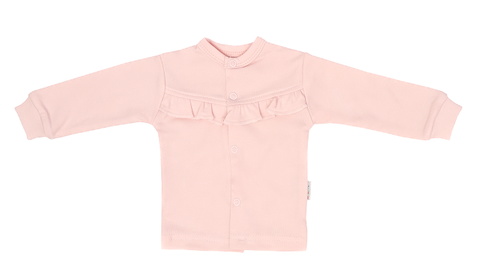 Mamatti Novorodenecká bavlnená košieľka s čipkou, Flowers - ružová, veľ. 50