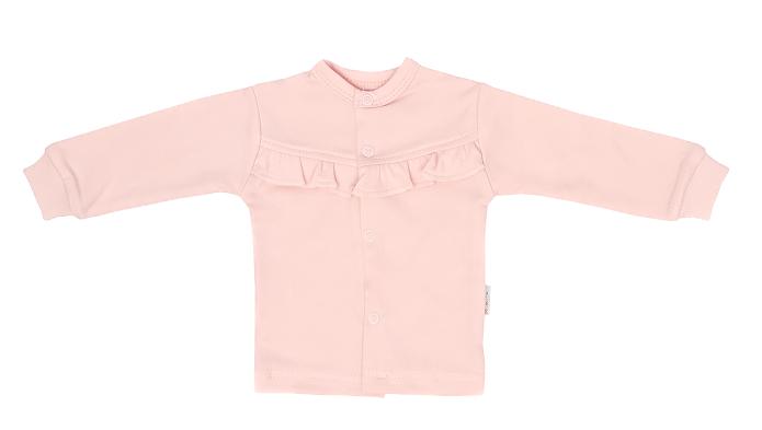 Mamatti Novorodenecká bavlnená košieľka s čipkou, Flowers - ružová, veľ. 68