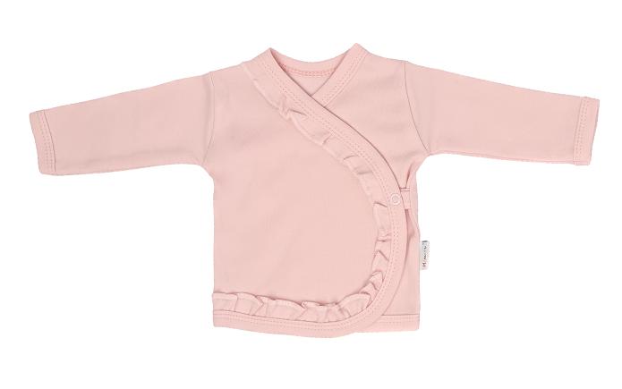 Mamatti Novorodenecká bavlnená košieľka zapínanie bokom, Flowers - ružová, veľ. 62
