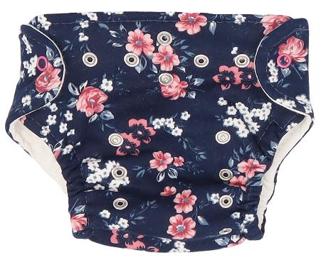 Mamatti Látková plienka EKO sada - nohavičky + 2 x plienka, veľ. 3 - 8 kg, Flowers