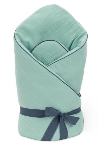 Mamo Tato Dojčenská zavinovačka, mušelínová double na zaväzovanie, 70x70cm - zelená
