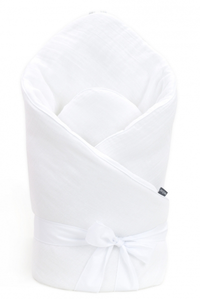 Mamo Tato Dojčenská zavinovačka, mušelínová double na zaväzovanie, 70x70cm - biela