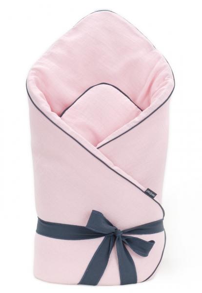 Mamo Tato Dojčenská zavinovačka, mušelínová double na zaväzovanie, 70x70cm - svetlo ružová