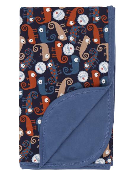 Mamatti Detská bavlnená deka, Chameleon - 80 x 90 cm, granát/granát so vzorom