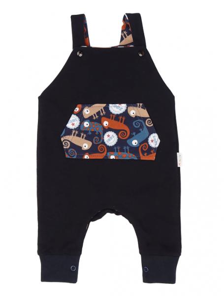 Mamatti Detské laclové nohavice, Chameleon - čierne, veľ. 68