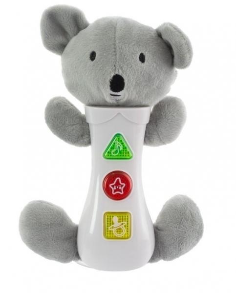 Euro Baby Hračka so zvukmi na baterie pre najmenších - koala, sivá