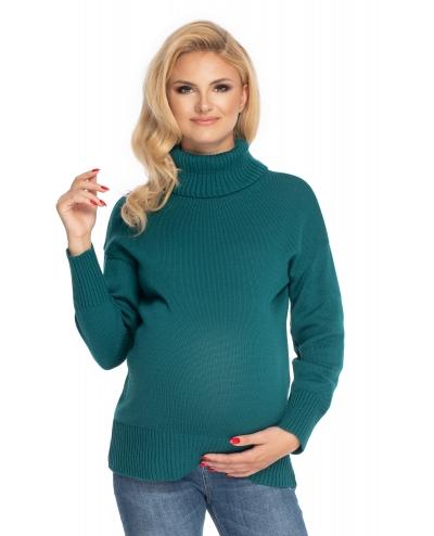Be Maamaa Tehotenský sveter, rolák - zelený-#Velikosti těh. moda;UNI
