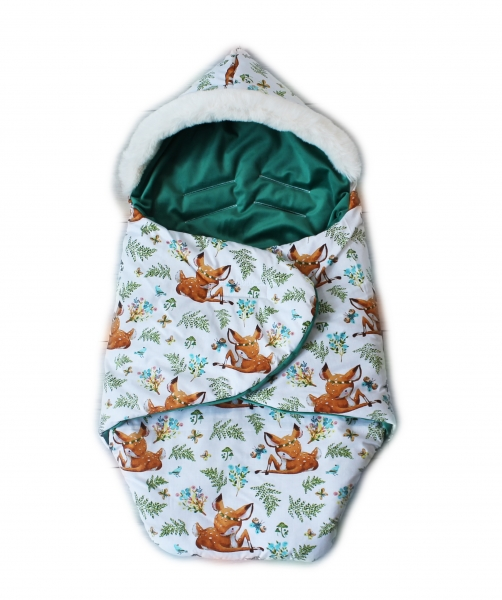 Baby Nellys zavinovacie fusak s kožušinkou Škriatok, dĺžka 85 cm - koloušek