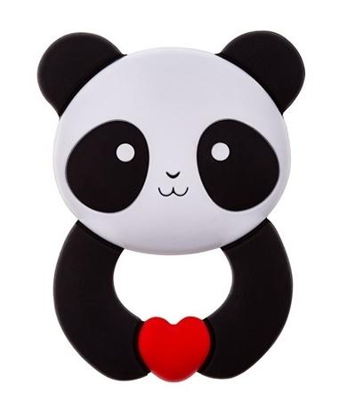 Silikónove hryzátko AKUKU - Panda   Hrkálka-hryzátko Trojúholník Akuku - modrý