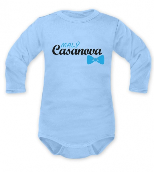 Body dlhý rukáv Dejna, Malý Casanova, modré, veľ. 68