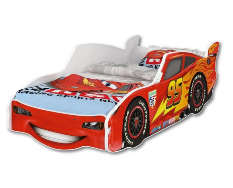 Nellys Detská posteľ Super Car McQueen 160 x 80 cm-#Rozměry;160x80