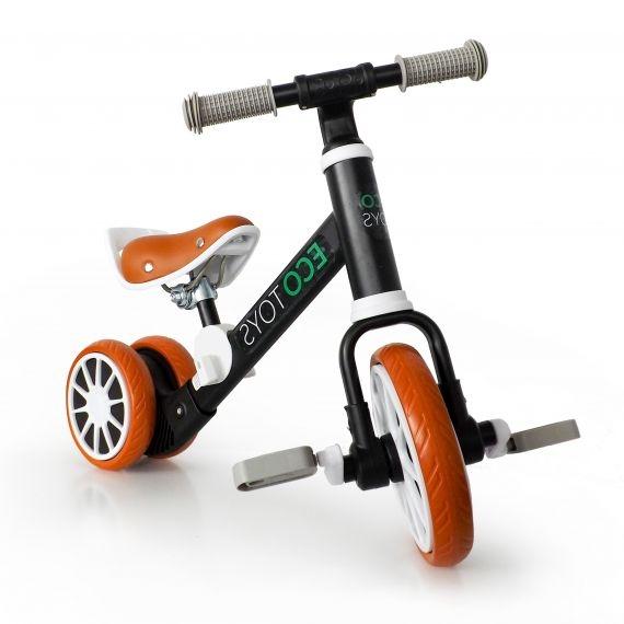 Eco toys Bicigel, odrážadlo s pedály - čierne