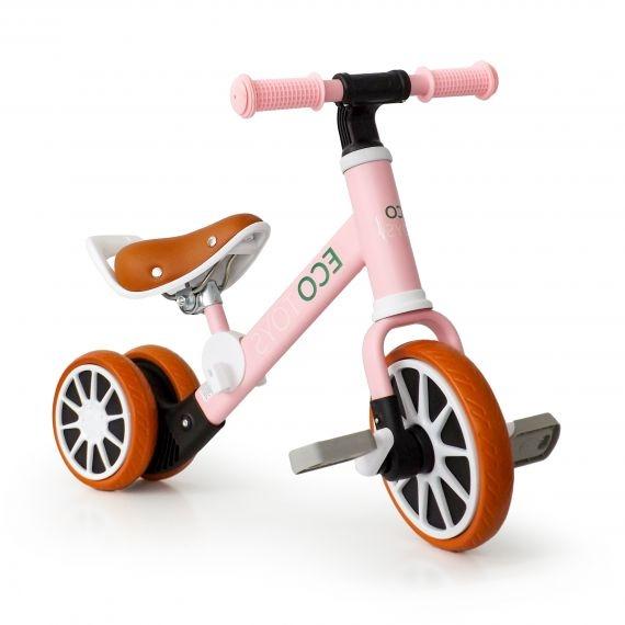 Eco toys Bicigel, odrážadlo s pedály - růžová