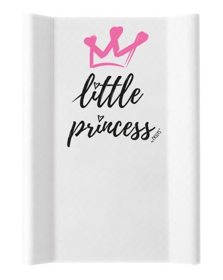 NELLYS Prebaľovacia podložka, mäkká, vyvýšené boky, Little Princess, 50 x 70cm, biela