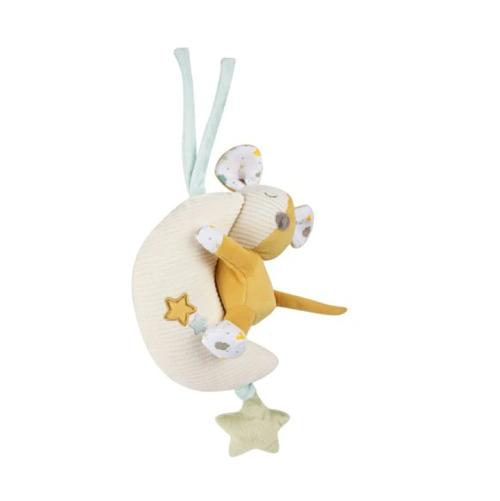 Canpol babies Závesná plyšová hračka s melódiou a pískátkem - Myška na nechtíku