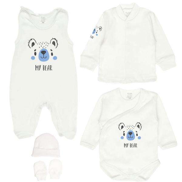 MBaby 5D Súpravička do pôrodnice - My Bear, biela