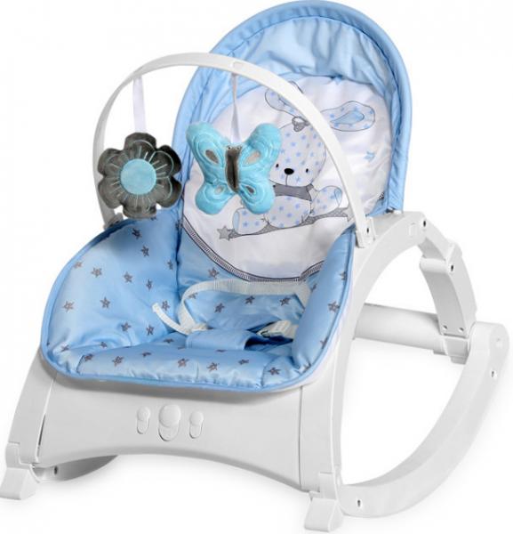 Lorelli Lehátko, hojdačka pre dojčatá Enjoy - Bunny blue
