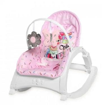Lorelli Lehátko, hojdačka pre dojčatá Enjoy - Pink Travelling