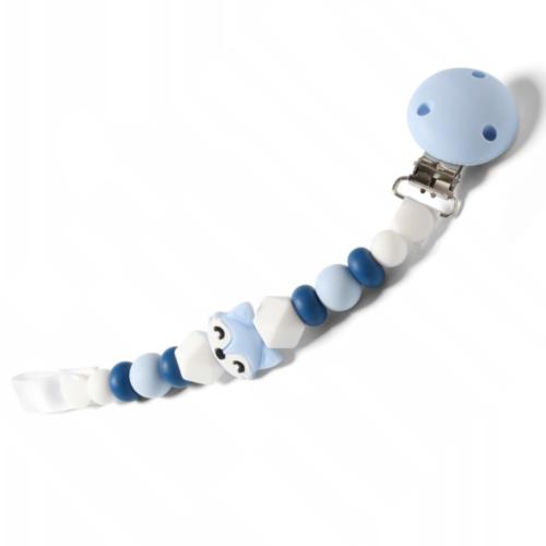 BabyOno Retiazka na cumlík Natural Nursing - Liška modrá
