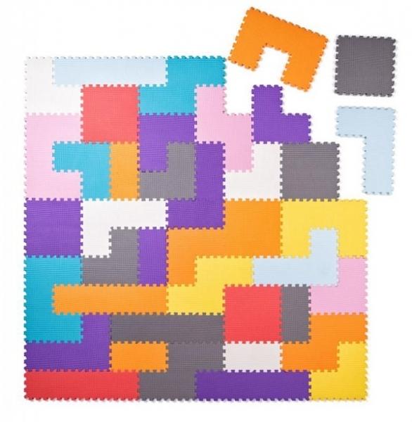 Plastica Penové podlahové puzzle - Tvary - 40 ks
