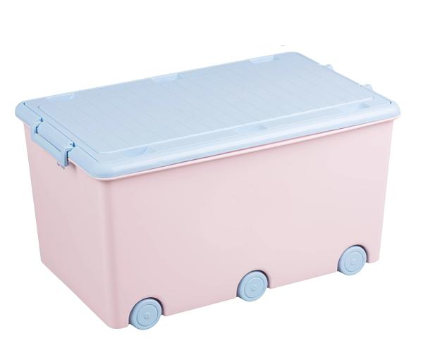 Tega Baby Pojazdný box na hračky Zajáčik - růžová