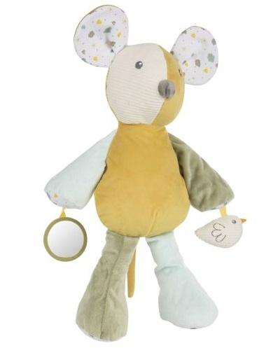 Canpol babies Závesná plyšová hračka so zrkadielkom a hrkálkou Myška