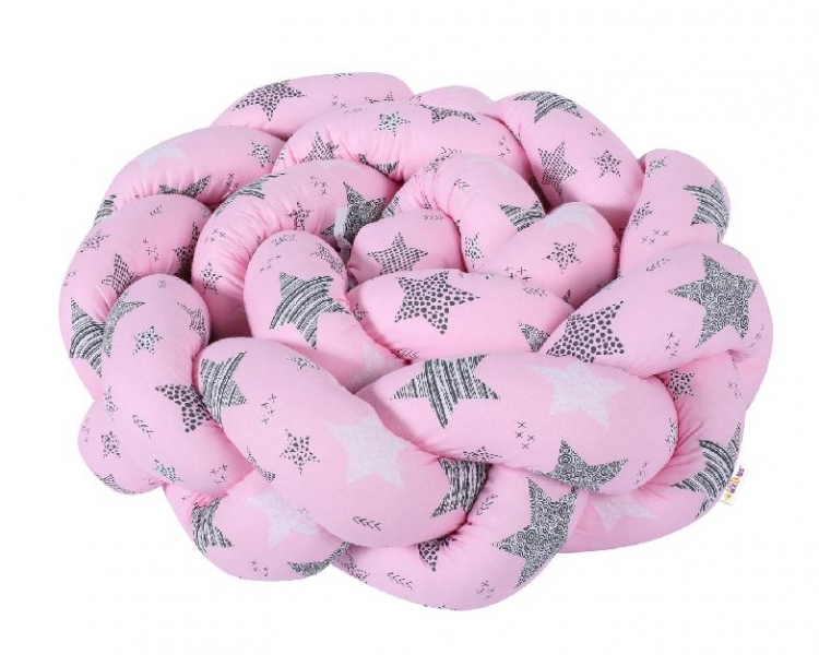Mantinel Baby Nellys pletený vrkoč STARMIX - ružový